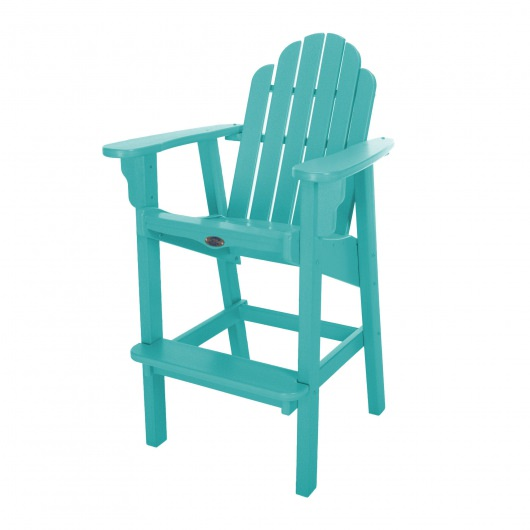 Classic Bar Height Chair - Turquoise