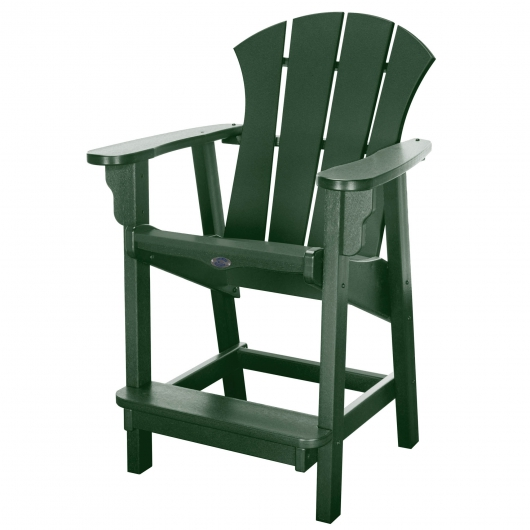 Sunrise Counter Height Chair - Forest Green