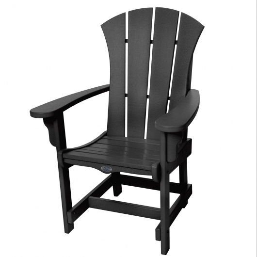 Sunrise Dining Chair with Arms - Black