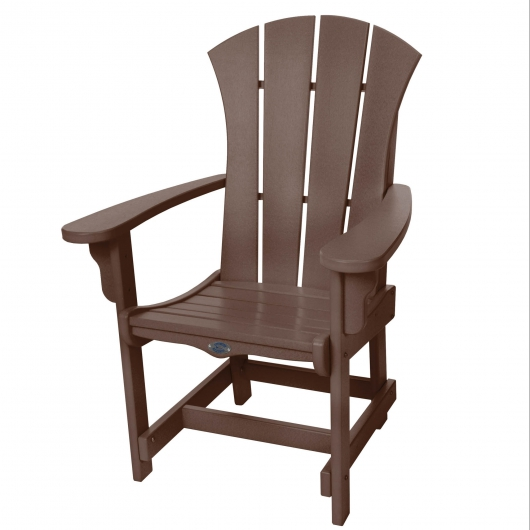 Sunrise Dining Chair with Arms - Chocolate