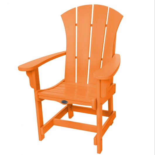 Sunrise Dining Chair with Arms - Orange