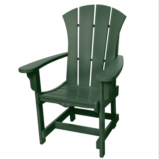 Sunrise Dining Chair with Arms - Forest Green