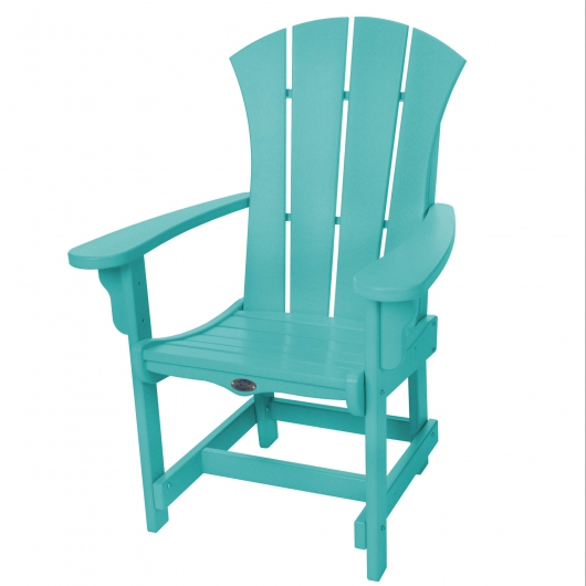 Sunrise Dining Chair with Arms - Turquoise