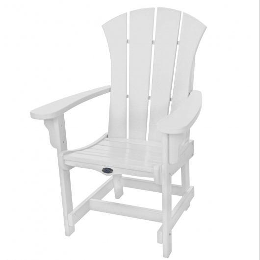 Sunrise Dining Chair with Arms - White