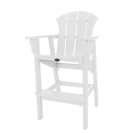 Sunrise High Dining Chair - White