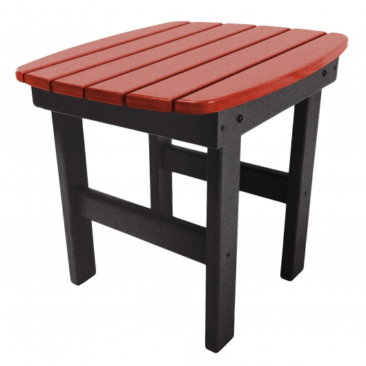 Black and Red Classic Adirondack Side Table