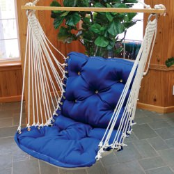 Sunbrella Royal Blue Tufted Single Swing