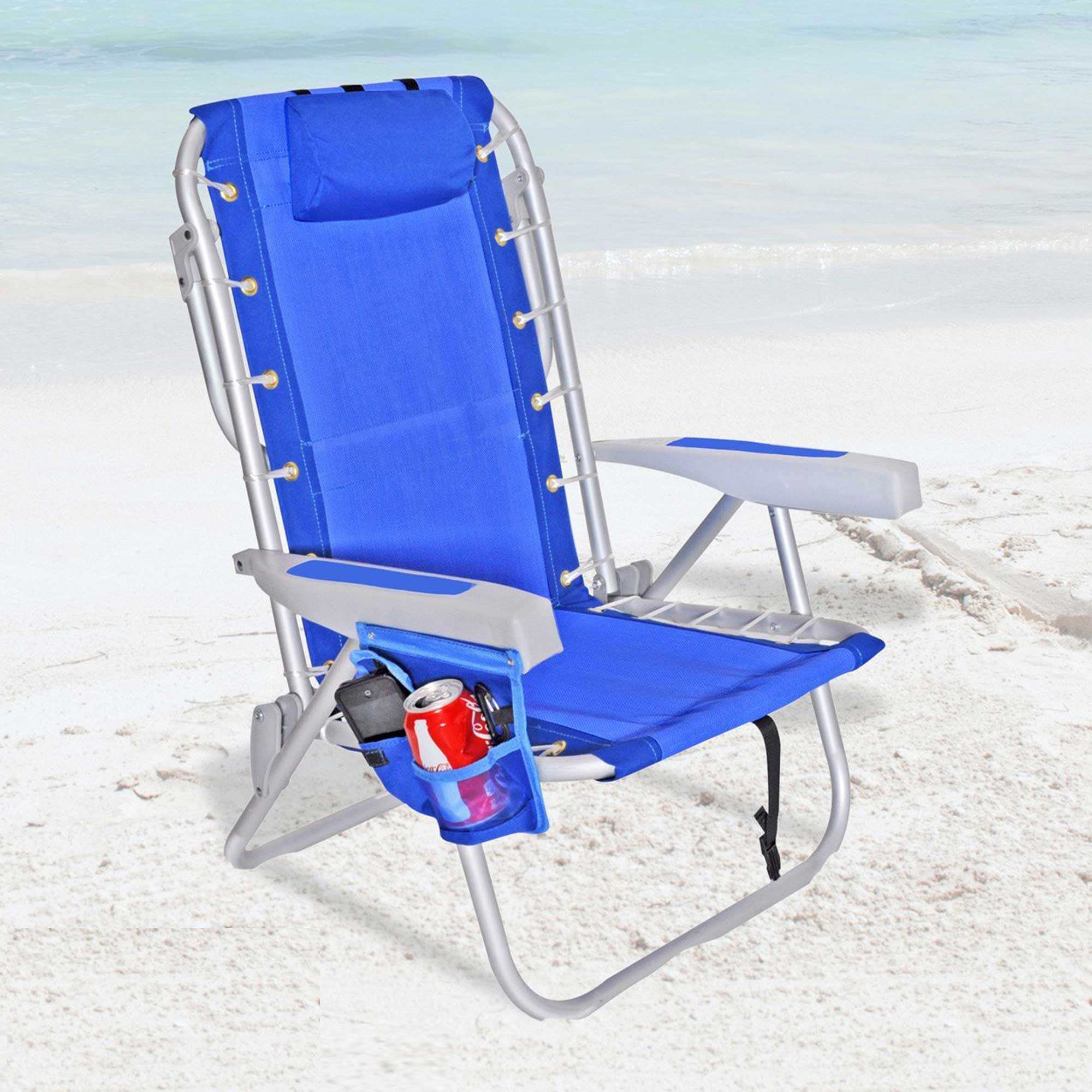 Rio 5 Pos Layflat Ultimate Backpack Beach Chair With Cooler