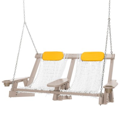 Weatherwood Durawood Deluxe Double Rope Swing
