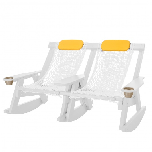 White Durawood Double Rope Rocker