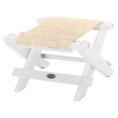 White Durawood Folding Rope Footstool