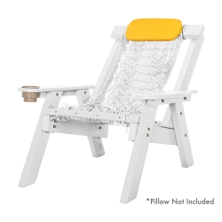 White Durawood Single Rope Chair